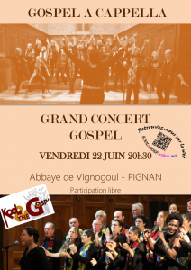 Affiche Kool and the Gosp Vignogoul